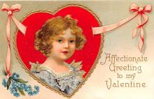 xrt599285 - Valentines Day Post Card Old Vintage Antique Postcard
