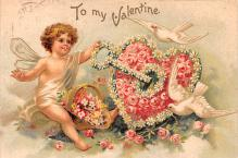 xrt599287 - Valentines Day Post Card Old Vintage Antique Postcard
