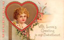 xrt599293 - Valentines Day Post Card Old Vintage Antique Postcard