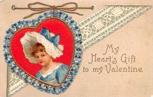 xrt599295 - Valentines Day Post Card Old Vintage Antique Postcard