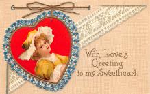 xrt599297 - Valentines Day Post Card Old Vintage Antique Postcard