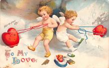 xrt599299 - Valentines Day Post Card Old Vintage Antique Postcard