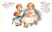 xrt599303 - Valentines Day Post Card Old Vintage Antique Postcard