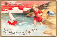 xrt599311 - Valentines Day Post Card Old Vintage Antique Postcard