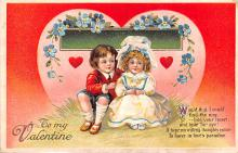 xrt599317 - Valentines Day Post Card Old Vintage Antique Postcard