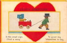 xrt599319 - Valentines Day Post Card Old Vintage Antique Postcard