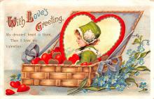 xrt599323 - Valentines Day Post Card Old Vintage Antique Postcard