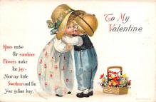xrt599325 - Valentines Day Post Card Old Vintage Antique Postcard