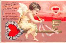 xrt599327 - Valentines Day Post Card Old Vintage Antique Postcard
