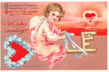 xrt599329 - Valentines Day Post Card Old Vintage Antique Postcard