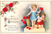 xrt599331 - Valentines Day Post Card Old Vintage Antique Postcard