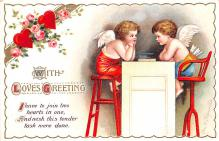 xrt599333 - Valentines Day Post Card Old Vintage Antique Postcard