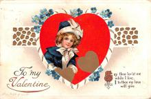 xrt599335 - Valentines Day Post Card Old Vintage Antique Postcard