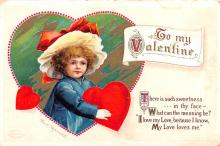 xrt599339 - Valentines Day Post Card Old Vintage Antique Postcard
