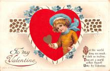 xrt599341 - Valentines Day Post Card Old Vintage Antique Postcard