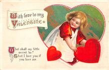 xrt599343 - Valentines Day Post Card Old Vintage Antique Postcard