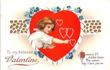 xrt599345 - Valentines Day Post Card Old Vintage Antique Postcard
