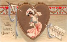 xrt599349 - Valentines Day Post Card Old Vintage Antique Postcard