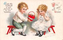 xrt599351 - Valentines Day Post Card Old Vintage Antique Postcard