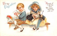 xrt599353 - Valentines Day Post Card Old Vintage Antique Postcard