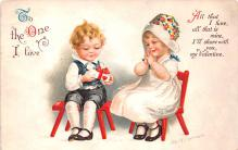 xrt599355 - Valentines Day Post Card Old Vintage Antique Postcard