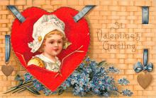 xrt599357 - Valentines Day Post Card Old Vintage Antique Postcard