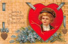 xrt599359 - Valentines Day Post Card Old Vintage Antique Postcard