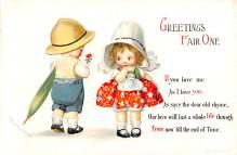 xrt599361 - Valentines Day Post Card Old Vintage Antique Postcard