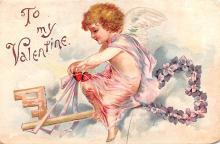 xrt599363 - Valentines Day Post Card Old Vintage Antique Postcard