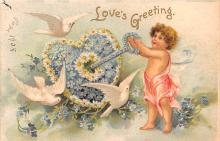 xrt599365 - Valentines Day Post Card Old Vintage Antique Postcard