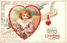 xrt599367 - Valentines Day Post Card Old Vintage Antique Postcard