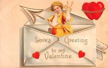 xrt599375 - Valentines Day Post Card Old Vintage Antique Postcard