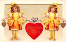 xrt599377 - Valentines Day Post Card Old Vintage Antique Postcard