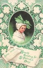 xrt601002 - St Patrick's Day Post Card Old Vintage Antique