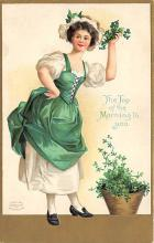 xrt601006 - St Patrick's Day Post Card Old Vintage Antique
