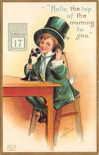 xrt601007 - St Patrick's Day Post Card Old Vintage Antique