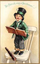 xrt601009 - St Patrick's Day Post Card Old Vintage Antique