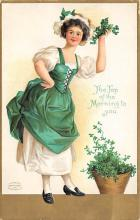 xrt601012 - St Patrick's Day Post Card Old Vintage Antique