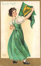 xrt601013 - St Patrick's Day Post Card Old Vintage Antique