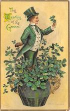 xrt601014 - St Patrick's Day Post Card Old Vintage Antique