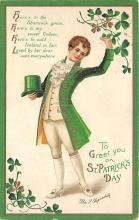 xrt601020 - St Patrick's Day Post Card Old Vintage Antique