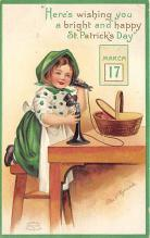xrt601021 - St Patrick's Day Post Card Old Vintage Antique