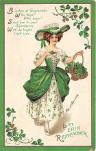 xrt601022 - St Patrick's Day Post Card Old Vintage Antique