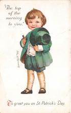 xrt601028 - St Patrick's Day Post Card Old Vintage Antique