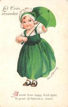 xrt601030 - St Patrick's Day Post Card Old Vintage Antique