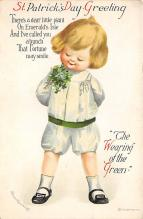 xrt601034 - St Patrick's Day Post Card Old Vintage Antique