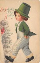 xrt601041 - St Patrick's Day Post Card Old Vintage Antique