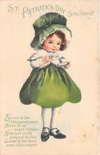 xrt601042 - St Patrick's Day Post Card Old Vintage Antique