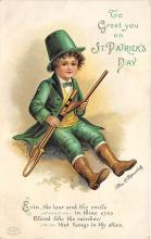 xrt601048 - St Patrick's Day Post Card Old Vintage Antique