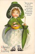 xrt601052 - St Patrick's Day Post Card Old Vintage Antique